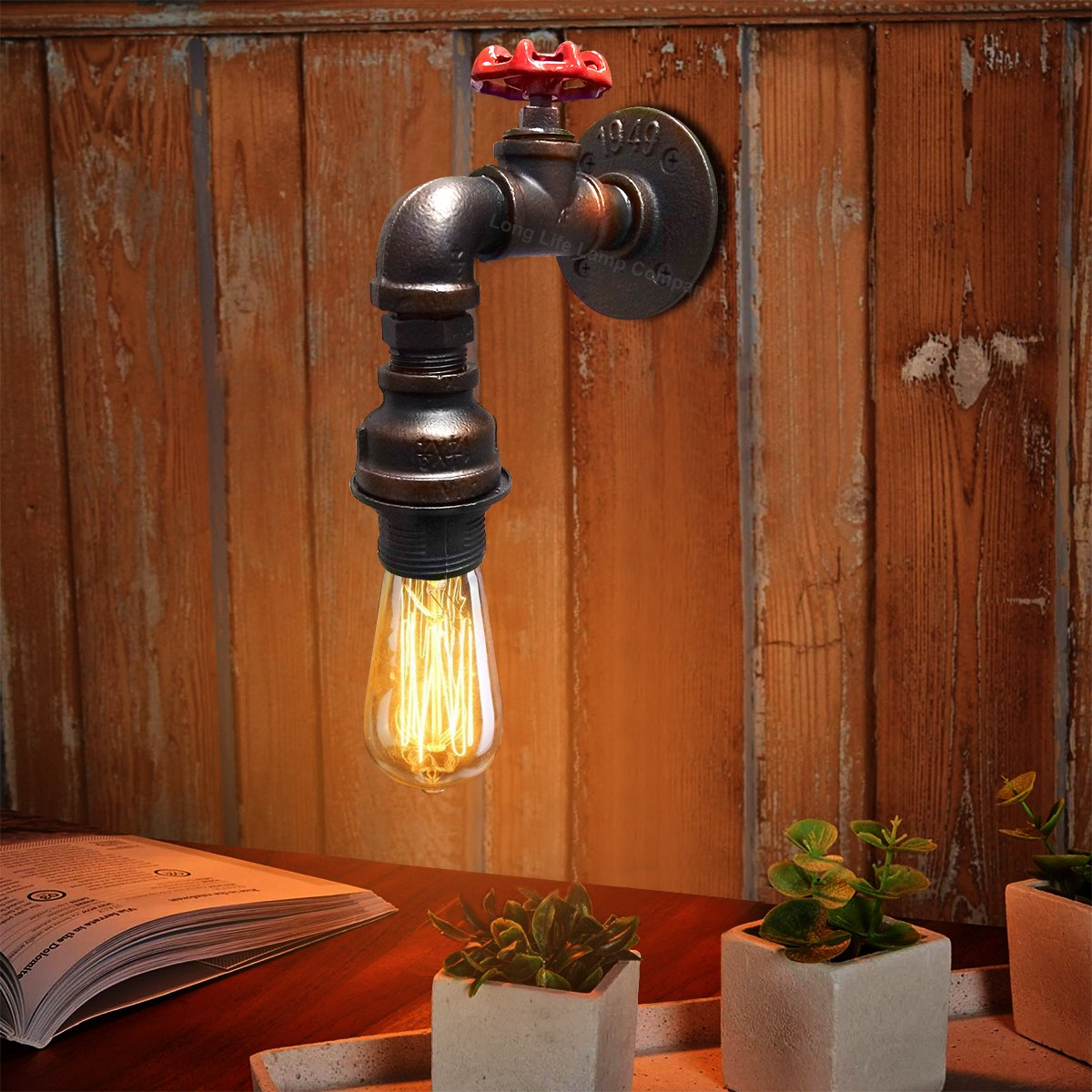 Vintage Industrial Rustic Unique Tap Style Wall Light