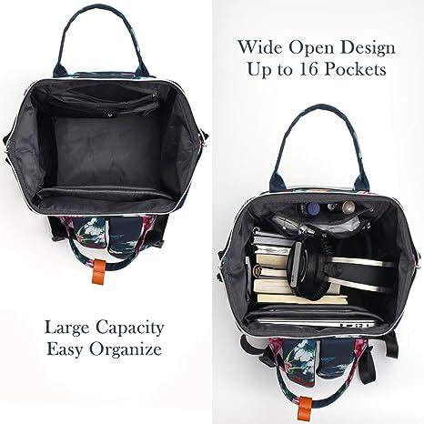 RJEU Mochila Mujer 15.6-17.3 Pulgadas Mochila Ordenador Portatil con Puerto de Carga USB para la Escola Universidad Negocios Viajes