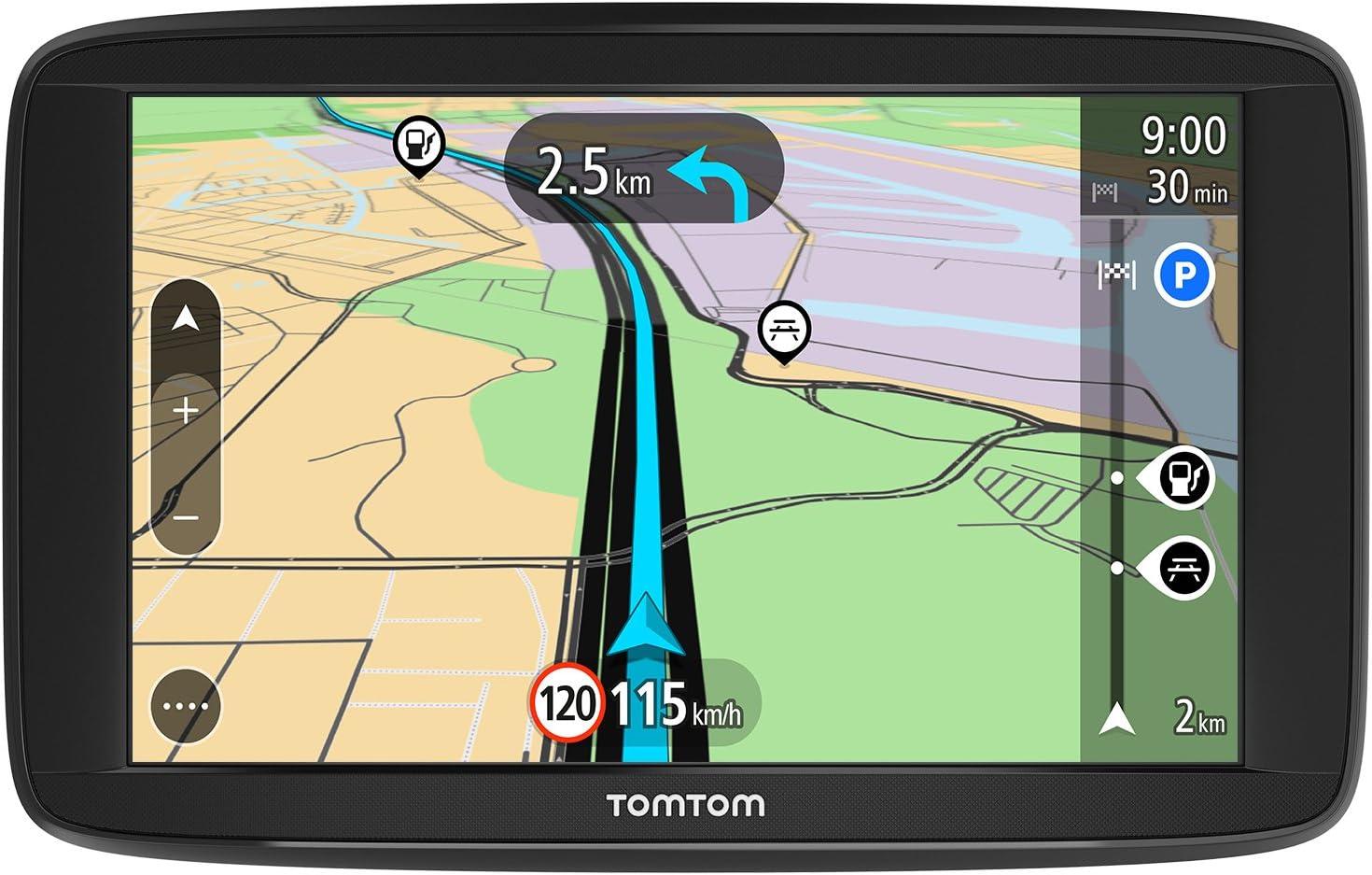 TomTom Start 62, GPS para coche, 6 pulgadas, mapas de la UE para toda la vida y pantalla resistiva