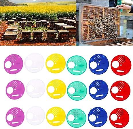 30Pcs Bee Hive Box Entrance Gate Plastic Disc Tool Beekeeping Nest Bee