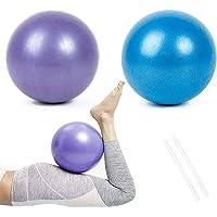 Pelota de Pilates de Yoga de 25 cm, 2 Pelotas de Ejercicio Pequeñas, Mini Pelota de Pilates Suave Antideslizante para…