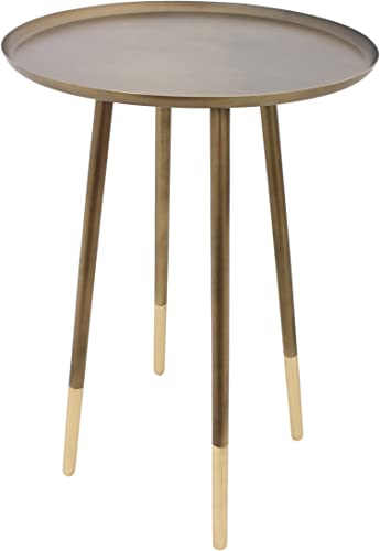 Ren-Wil Angelo Accent Table, Antique Brass