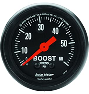 Auto Meter 2617 Z-Series Mechanical Boost Gauge