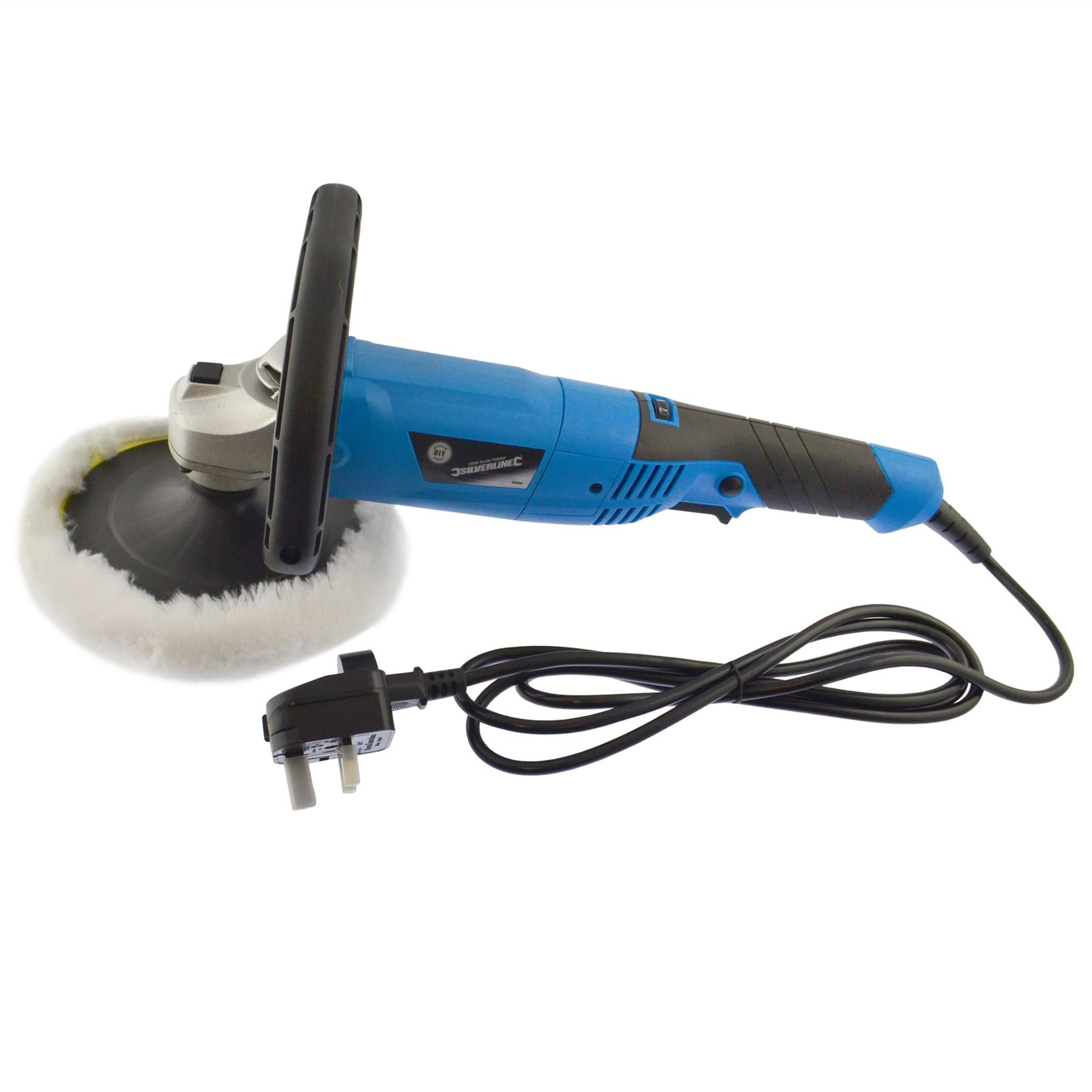 AB Tools-Silverline 180mm Machine Polisher 1200W Electric Variable Speed Rotary Car Buffer SIL126 by AB Tools-Silverline (Image #1)