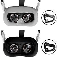 NEWZEROL VR silikonowa osłona twarzy kompatybilna z Oculus Quest 2, odporna na pot przeciwpotna przeciwpoślizgowa…