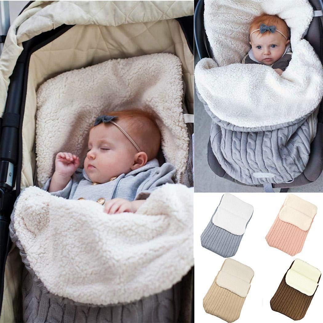 linselles Saco de Dormir para Beb/é Infantil Swaddle Saco de Dormir Suave Cochecito Manta de Abrigo Sacos de Dormir para Beb/és Ni/ño