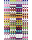 "Hello Kitty Rainbow Pencil Birthday Party Favours (12 Pack), Multi Color, 9.5"" x 4.2""."