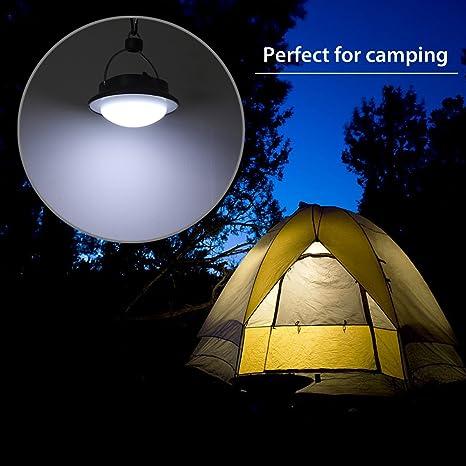 Justech Mini Lampe de Camping Lanterne Camping 5LEDs Lampe Bivouac Suspension Rechargeable Lumi/ère Blanche avec 4 Modes pour Camping Randonn/ée Jardin Lecture Bricolage