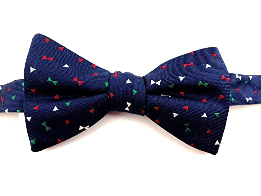3ff51fa3e Tommy Hilfiger Navy Multicolor Bows To-Tie Men s Bow Tie Silk Blue Not  Applicable