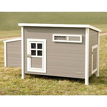 Kerbl 81731 Eco Kunststoff Huhnerstall Barney Schiebefenster