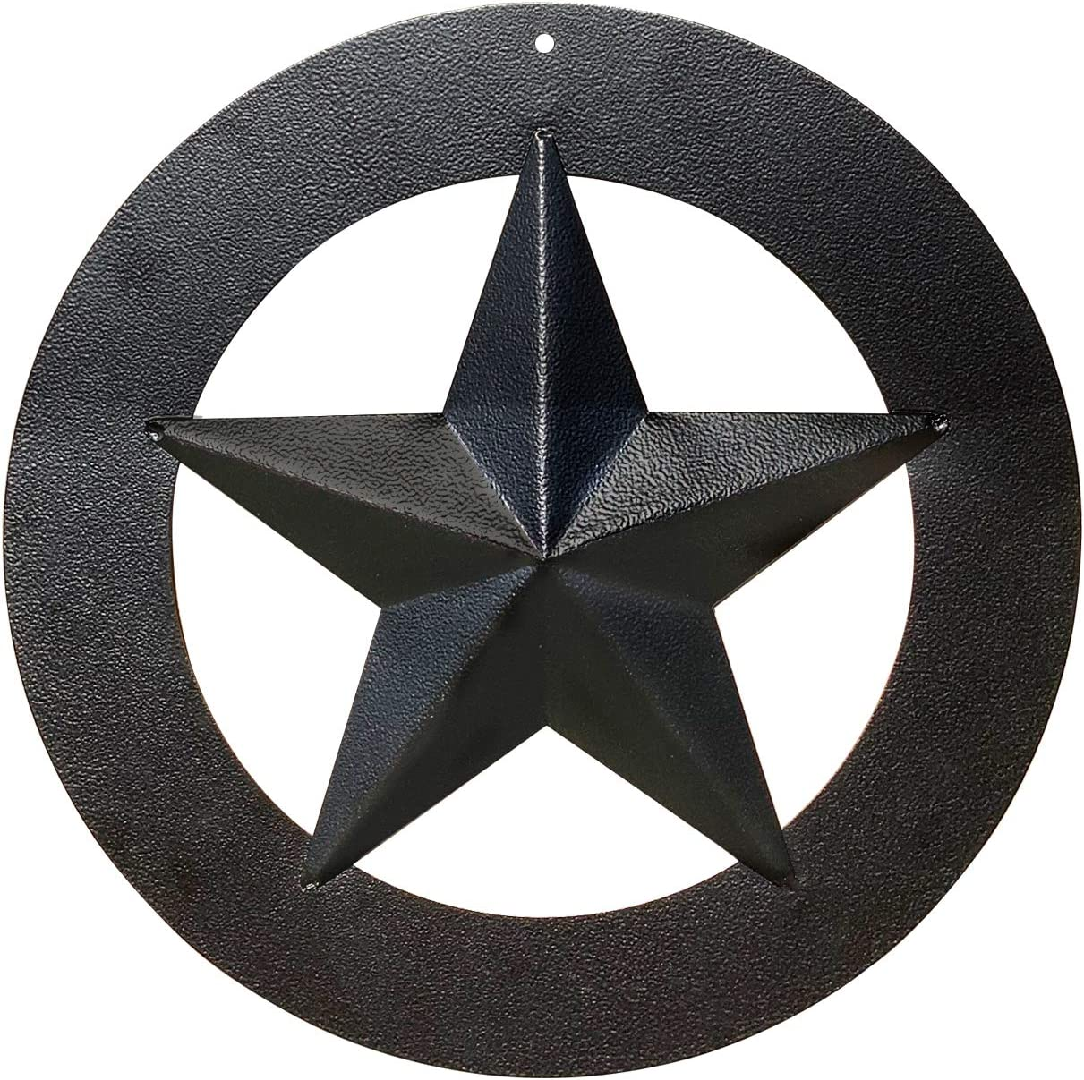 Black Metal Wall Star – Barn Star, Metal Stars for Outside or Inside, Texas Star, Art Rustic Vintage Western Country Farmhouse Iron Wall Décor for House (12