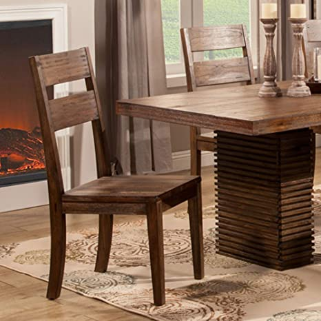 Fantastic Amazon Com Alpine Furniture Napa Dining Chair Set Of 2 Short Links Chair Design For Home Short Linksinfo