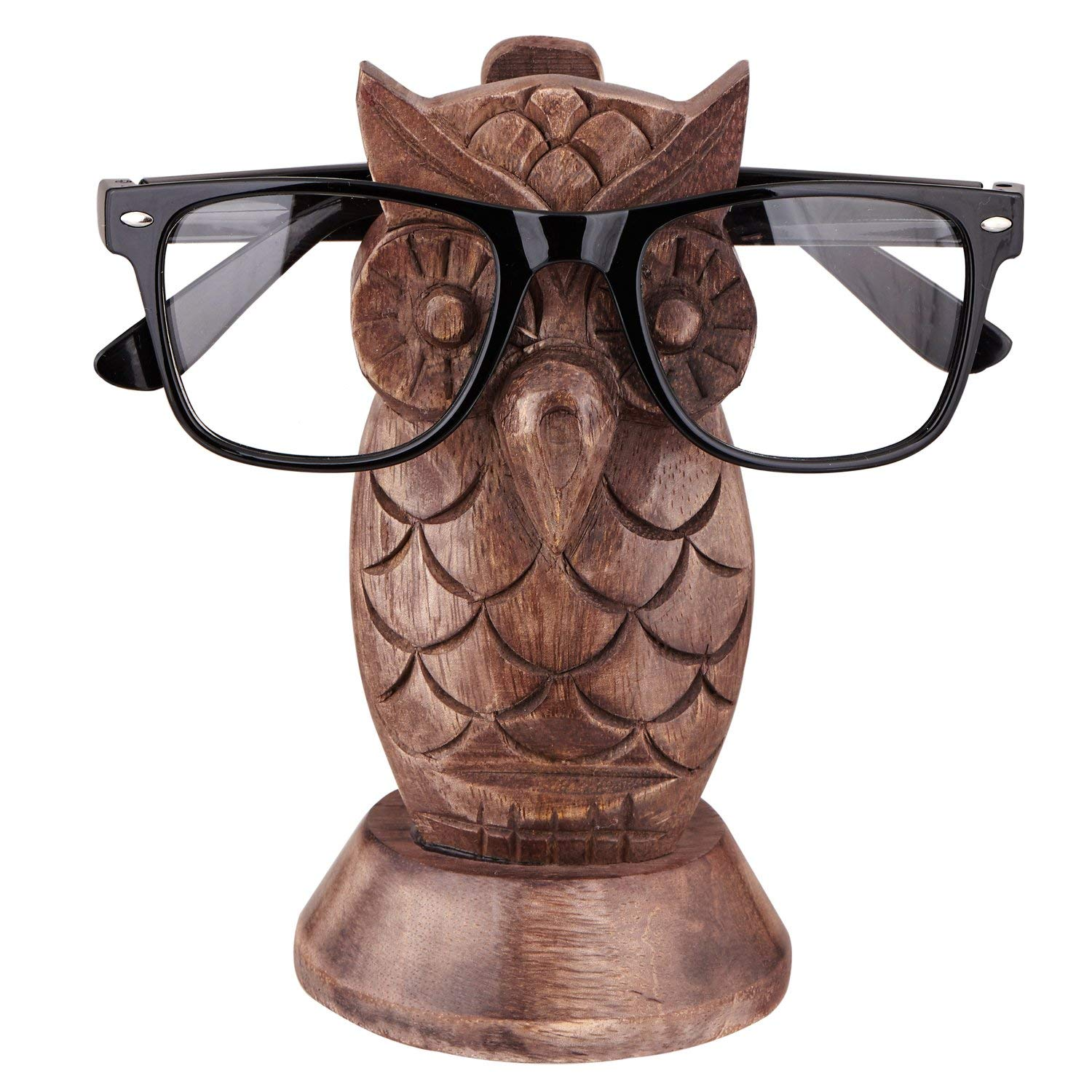 bb7cdbdfc81a Amazon.com  Crafkart Best Buy Owl Spectacle Holder Wooden Eyeglass Stand  Handmade Display Optical Glasses Accessories  Home   Kitchen