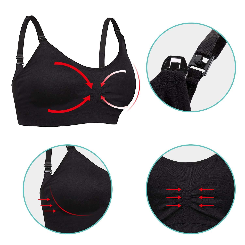 Feeding Breastfeeding Soft and Comfortable Seamless Bra with ...