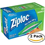 Ziploc Sandwich Bags (150 bags x 2 = 300 bags)