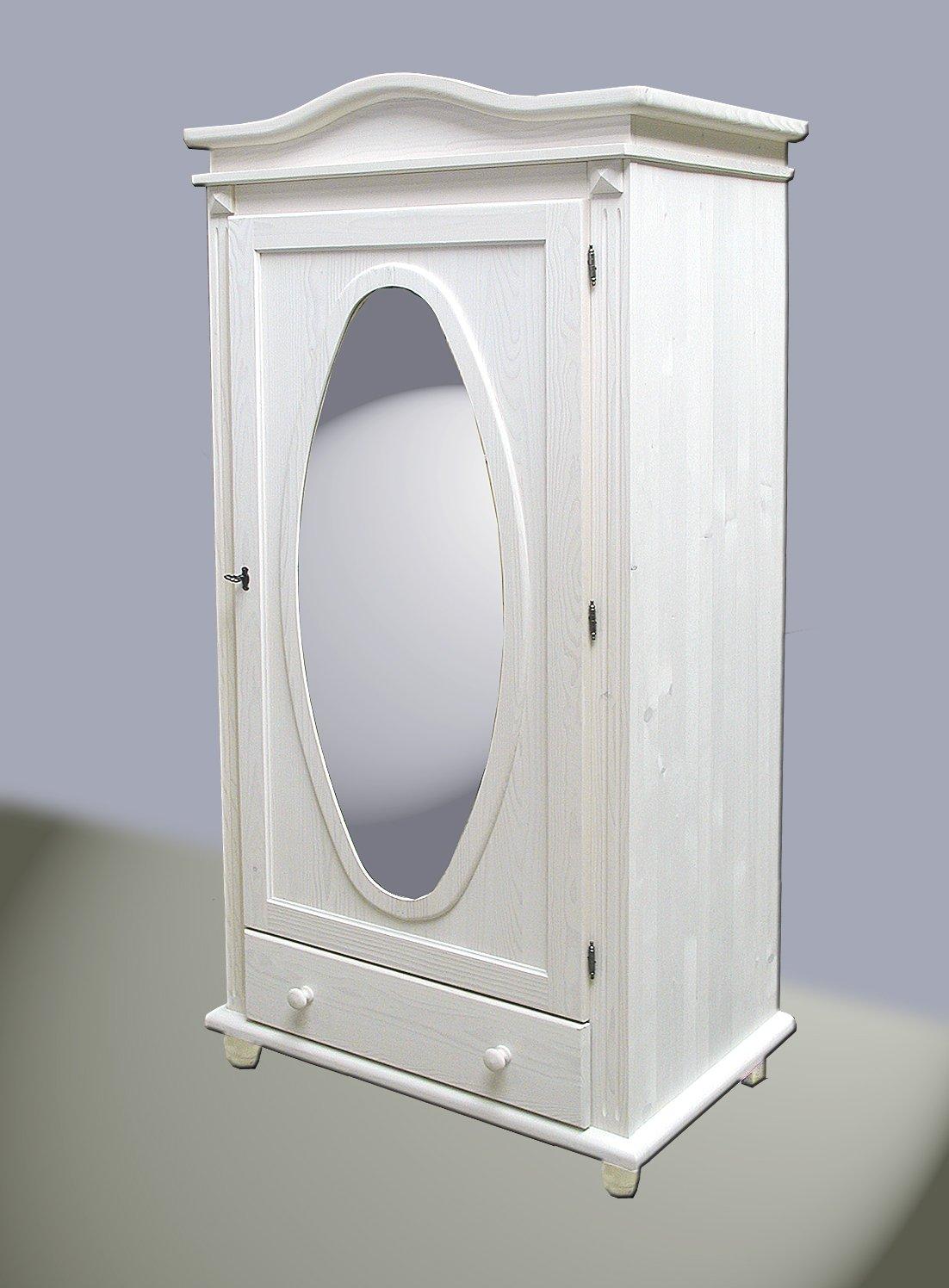 Faszinierend Dielenschrank Mit Spiegel Referenz Von Gaderoben-dielenschrank Kiefer Massivholz Weiß Gewachst Ne: Concept.de: