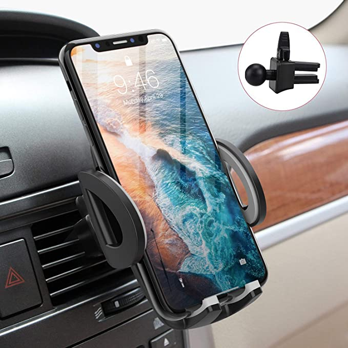 Phone Holder Universal Air Vent Phone Mount,Adjustable 360 Degree Rotation Cellphone Mount One-Button-Release for iPhone Xs XS Max X 8 8 Plus 7 7 Plus SE 6s 6 Plus 6 5s 5 4s 4 Samsung Gala AROYEL 4351684277 Car Mount