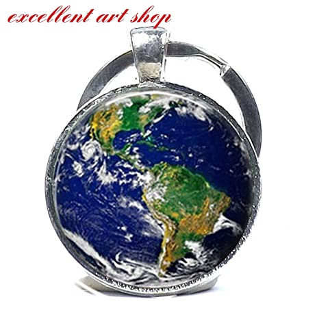 Amazon globe keychain keyring world map planet earth geography globe keychain keyring world map planet earth geography key chain keyring key fob car accessories gumiabroncs Gallery