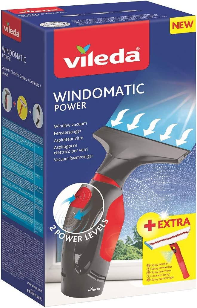 Vileda Windomatic Power Set - Aspirador de ventanas y mopa ...