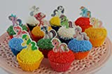 12 x EDIBLE My Little Pony Cupcake Cake Toppers