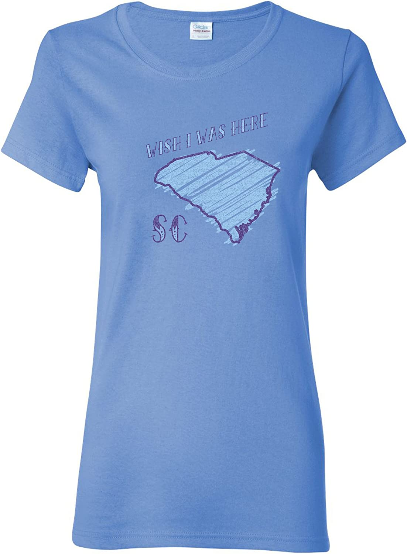 Wish I was Here - USA Hometown State Pride Womens T Shirt