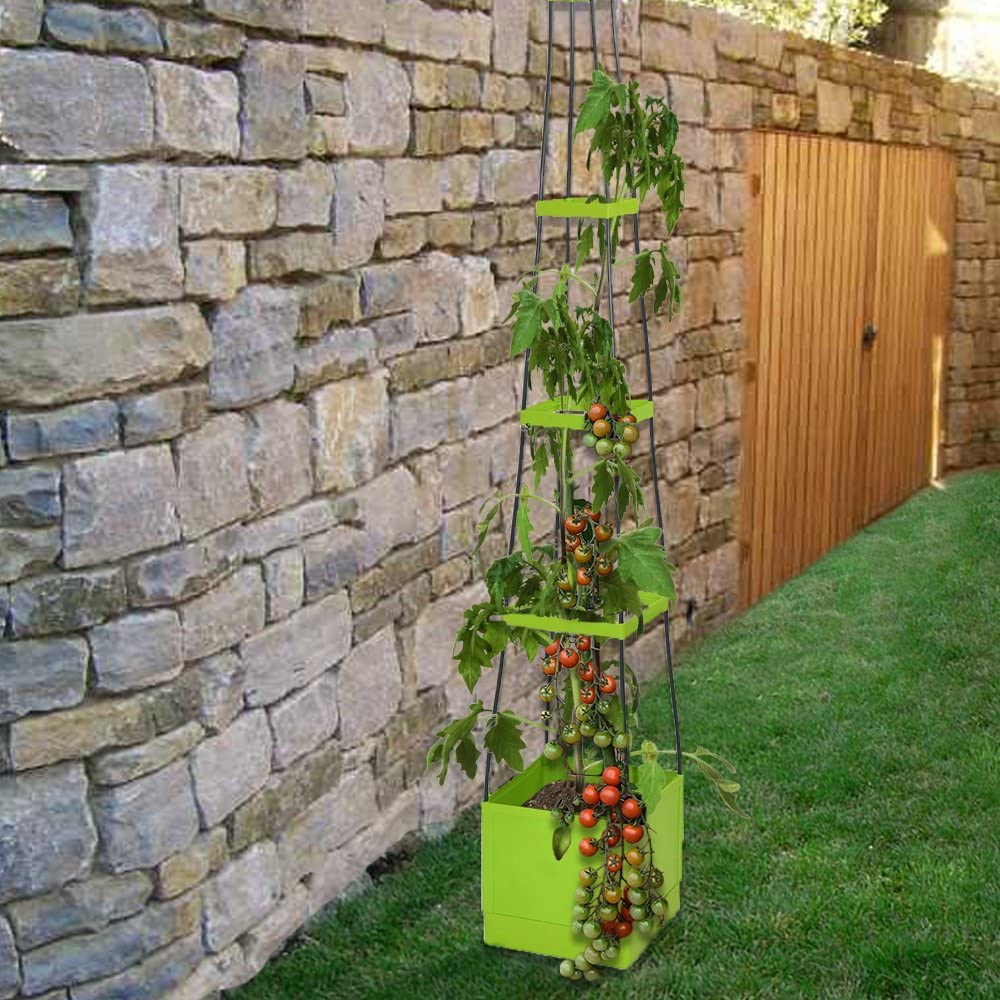 Home-X Tomato Plant Tower | Self Watering and Expandable