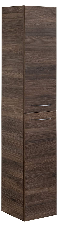 FACKELMANN Midischrank B. CLEVER Badschrank mit Soft-Close-System Maße (B x H H x x T)  ca. 30,5 x 81 x 32 cm hochwertiger Schrank Möbel fürs Badezimmer Korpus  Braun dunkel Front  Braun dunkel 2b44a7