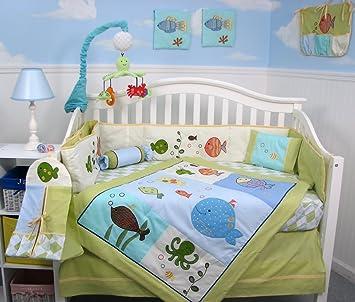 Amazoncom SoHo Gold Fish Aquarium Baby Crib Bedding Set 13 pcs