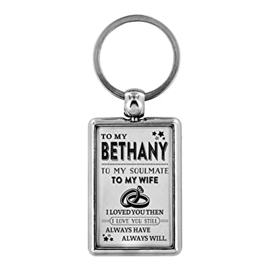 Amazon com: Key Chain Women To My Bethany To My Soulmate To