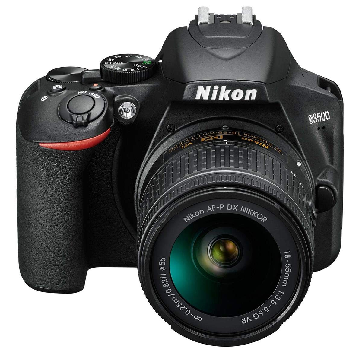 Nikon D3500 24MP DSLR Camera with AF-P DX NIKKOR 18-55mm f/3.5-5.6G VR Lens and AF-P DX NIKKOR 70-300mm f/4.5-6.3G ED Lens - Bundle with Camera Case, 16GB SDHC Card, Cleaning Kit, Card Reader by Nikon (Image #2)