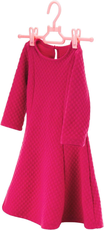 Perchas de pl/ástico con Pinzas para Pantalones y Faldas Hangerworld Color Rosa 30 cm, 20 Unidades