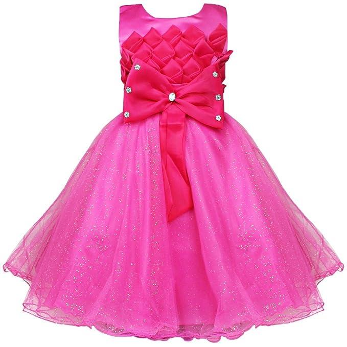 2a959f708 iiniim - Vestido - para niña Rosa 3 años: Amazon.es: Ropa y accesorios