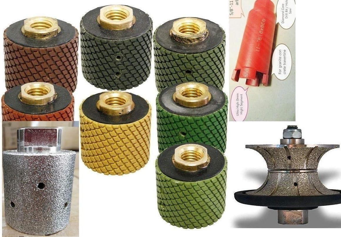 """2/"""" Zero Tolerance Diamond Drum Core Drill Bit Granite Concrete DRY Polishing Pad"""