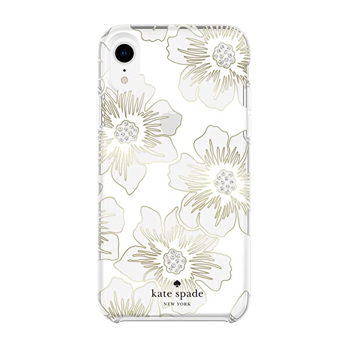 buy online c8466 8327d Kate Spade New York Phone Case for Apple iPhone XR Protective Phone Cases  with Slim Design Drop Protection and Floral Print, Reverse Hollyhock Floral  ...