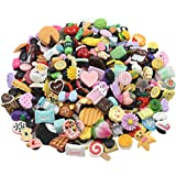 Bokcharms 30Pcs 3D Random Resin Cute Shoe Charms For Clog & Wristband Bracelet