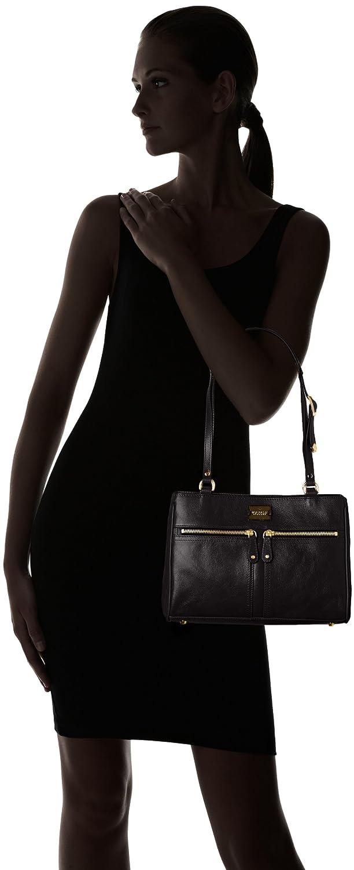 a8d85ee1aa Modalu Womens Pippa 3 Shoulder Bag MH4575 Black  Amazon.co.uk  Shoes   Bags