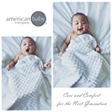 American Baby Company Heavenly Soft Minky Dot