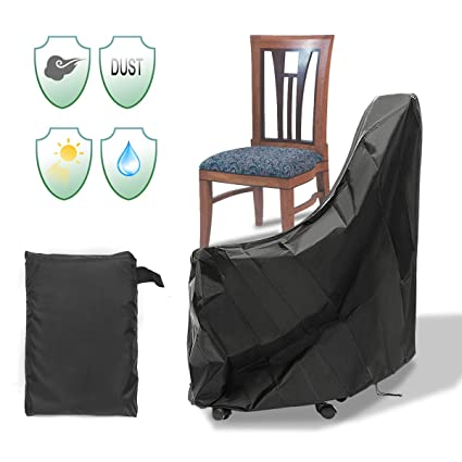Admirable Essort Patio Chair Cover One Pack Durable Waterproof Indoor Outdoor Chair Protective Cover Anti Uv Weather Proof 35X35X35 210D Download Free Architecture Designs Scobabritishbridgeorg