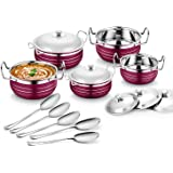 Classic Essentials Stainless Steel Handi Set, 10-Pieces, Purple