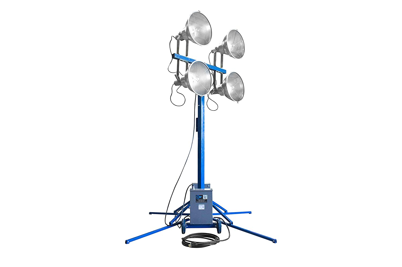 125 8//3-50A Twist Lock Plug 4 1000W MH Lights Portable 7-14 Light Tower - 440 000 Lumens