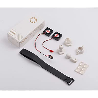 Summitlink V2 White Case Dual Fans for Stratux ADS-B Kit Fits AHRS Module and GPYes: GPS & Navigation