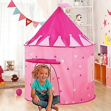 0c535efc80 Carpa plegable, WER tienda campaña infantil para niños/ casa de juego en  forma de castillo: Amazon.es: Electrónica