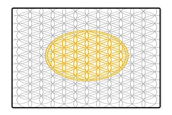 Amazon com: Indoor/Outdoor Rug Interlace Circles of Time and Space