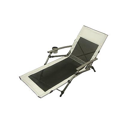 Sunncamp chaise longue compacte Noir/Gris