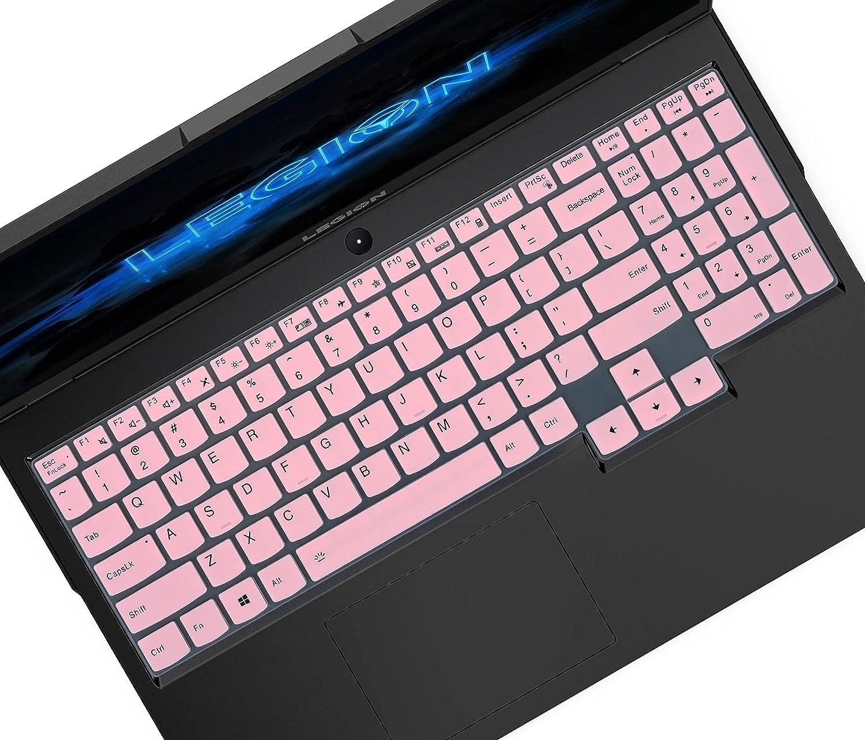 Keyboard Cover for Lenovo Legion 5 Pro, Legion 5 15.6 & 17.3 Gaming Laptop, Legion 7i & Legion 5i, ideaPad Gaming 3/3i 15 & Legion Slim 7i 15 Laptop, Lenovo Legion 5 Keyboard Protector - Pink