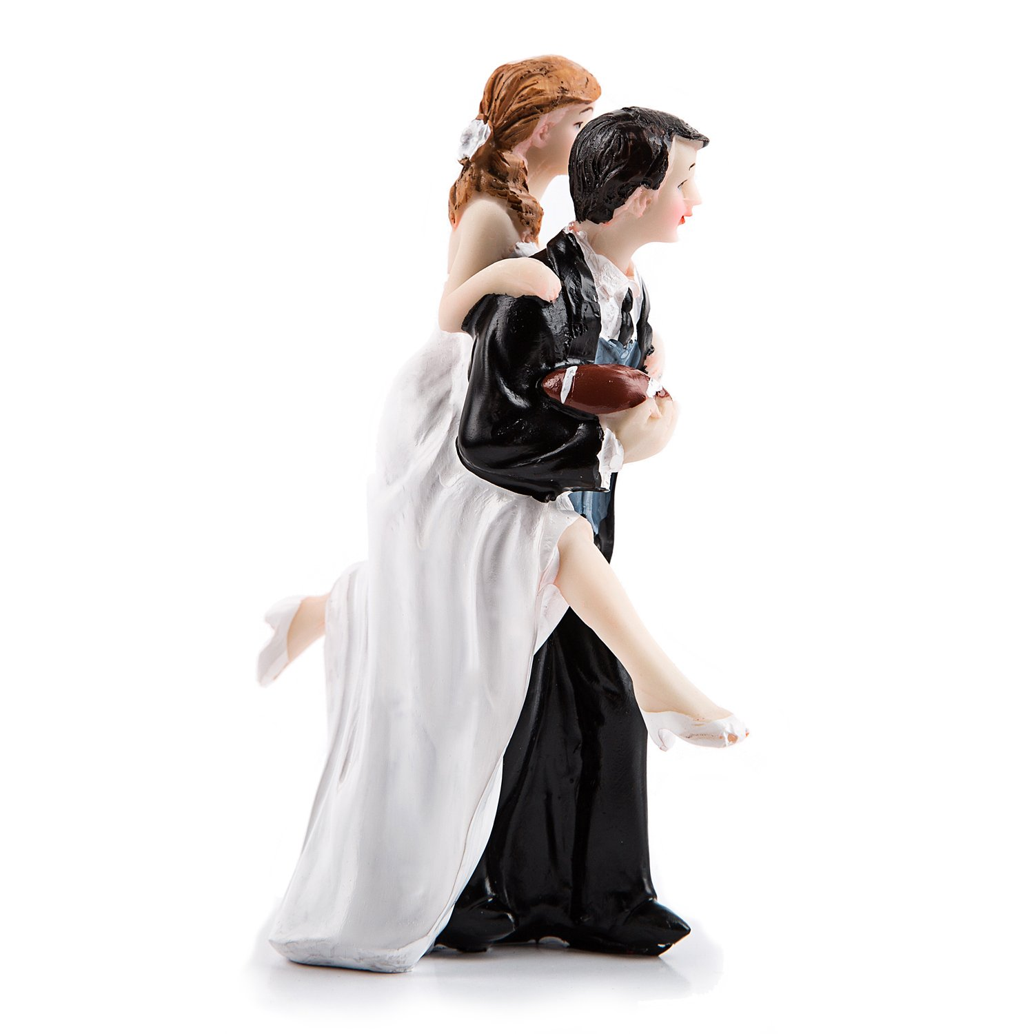 Bride and Groom Wedding Cake Topper Funny The Mad in Love