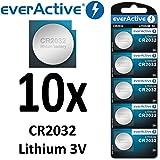 10 x everActive CR2032 Lithium 3Volt! CR 2032 BLISTER NEU Ø 20mm , Höhe 3,2mm