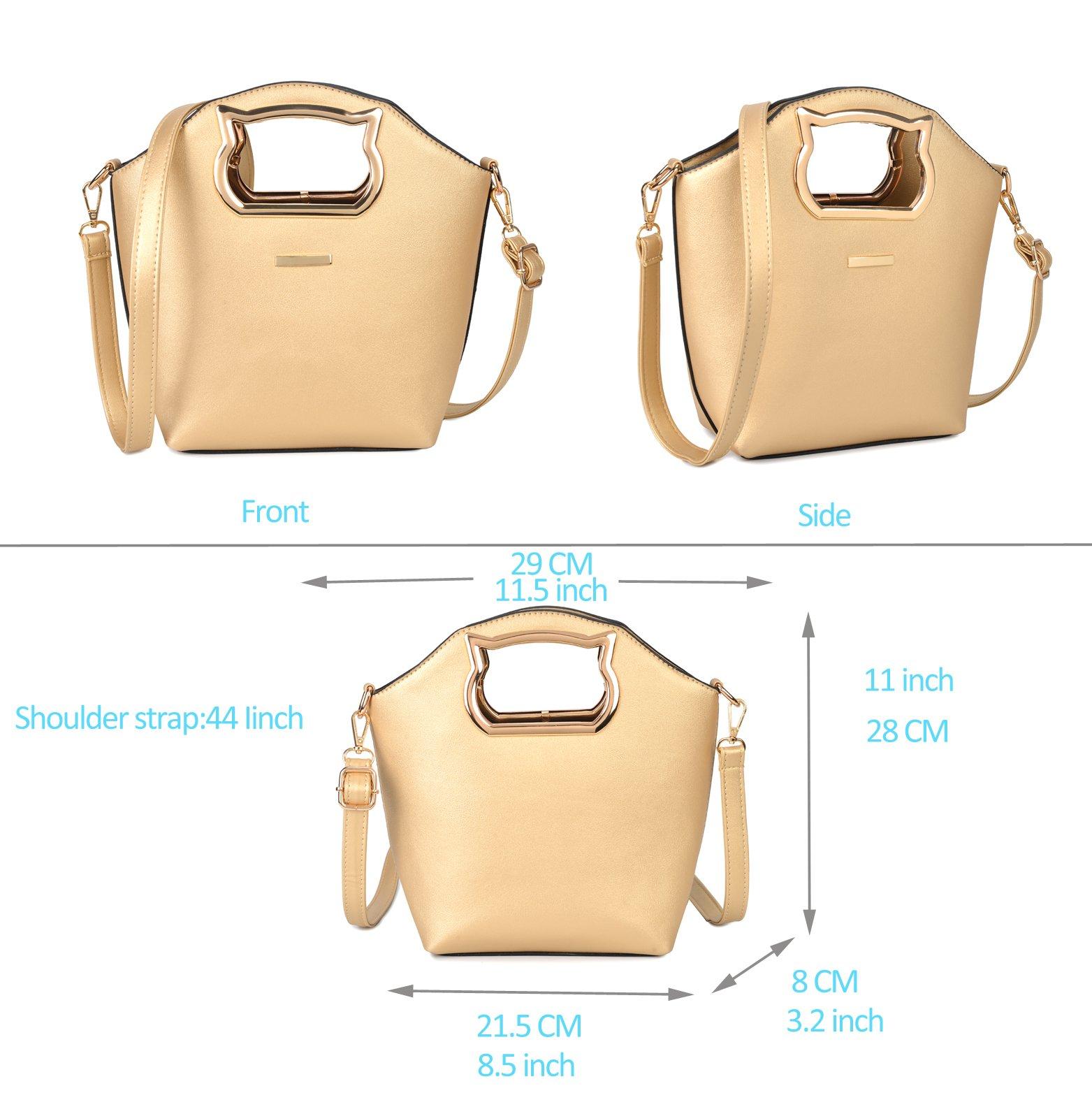 Women Handbag Purse Hobo Faux Leather Messenger Bag Clutch Satchel Bag 3 Piece Gift Set by KasPala (Image #6)