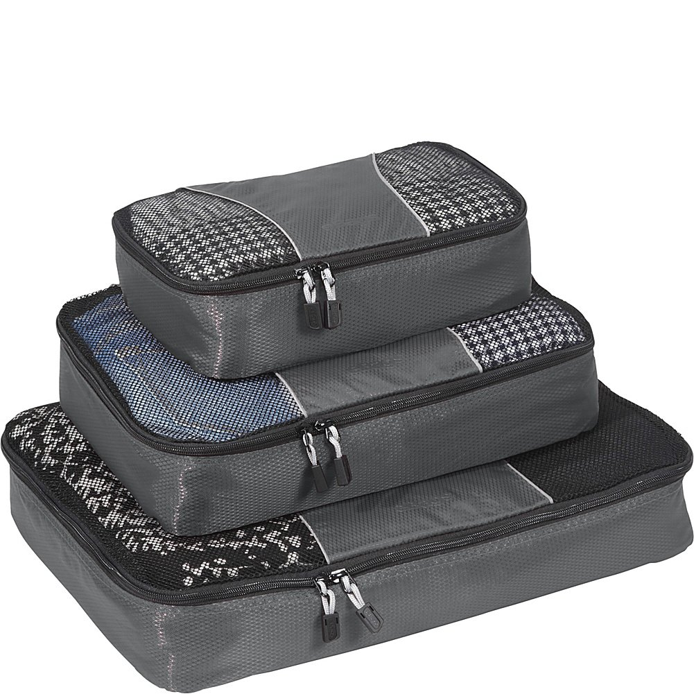 eBags Classic Packing Cubes for Travel - 3pc Set - (Titanium) by eBags