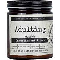 Malicious Women Candle Co - Adulting, Espresso Yo' Self Infused with Insufficient Funds, All-Natural Organic Soy Candle…